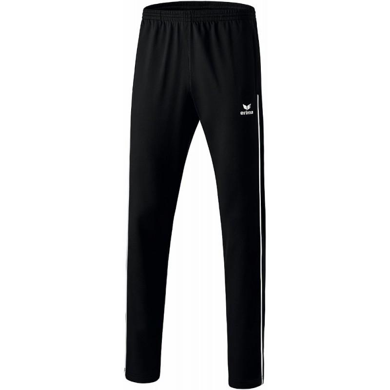 Pantalon d'entraînement ERIMA Shooter 2.0, couleur noir et blanc, de face