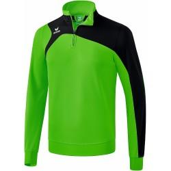 Sweat 1/2 zip ERIMA Club 1900 2.0, couleur vert et noir