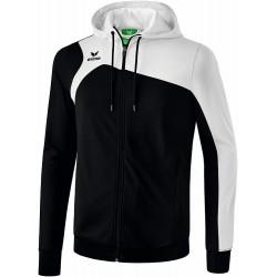 Veste à capuche ERIMA Club 1900 2.0, couleur noir et blanc