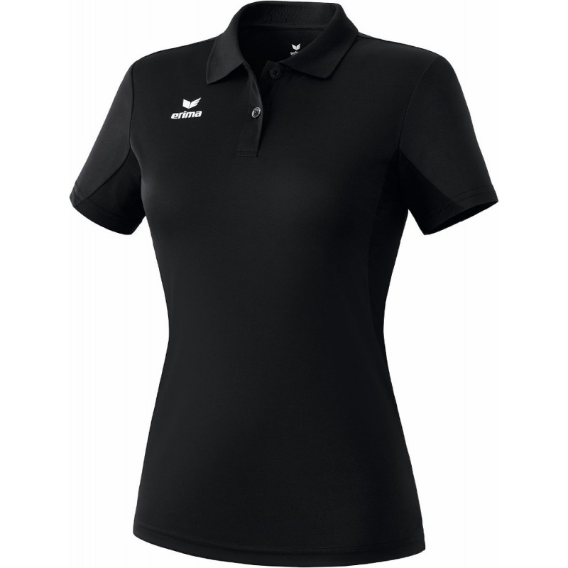 Polo Erima Teamsport femme, couleur noir
