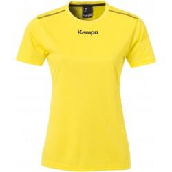 Maillot Kempa Poly femme jaune citron