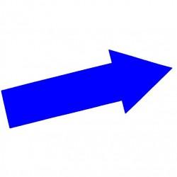 Marquage au sol Flèche coloris bleu