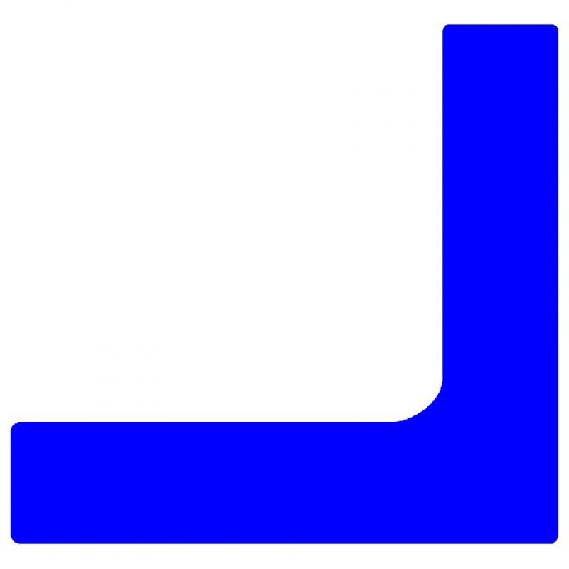 Marquage au sol Equerre coloris bleu