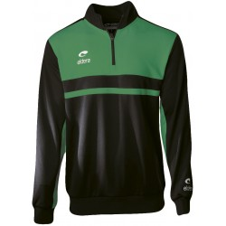 Sweat col zippé ELDERA Allure noir et vert