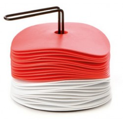 Kit avec 24 disques de délimitation coloris rouge/blanc
