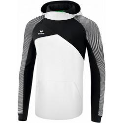 Sweat à capuche ERIMA Premium One 2.0, couleur blanc et noir