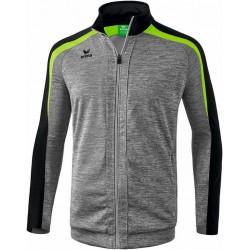 Veste d'entraînement ERIMA Liga 2.0, couleur gris chiné, noir et vert gecko