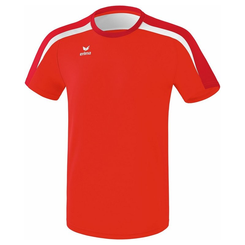Tee-Shirt ERIMA Liga 2.0, couleur rouge, tango rouge et blanc