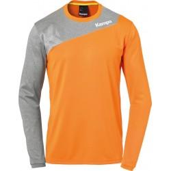Tee shirt manches longues Kempa Core 2.0 orange/gris foncé chiné