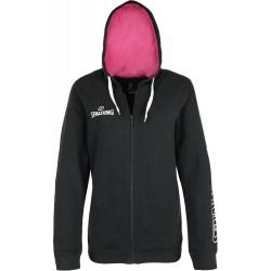 Veste Spalding Team II 4HER noir et rose