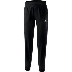 Pantalon de survêtement de présentation Erima Premium One 2.0 femme, couleur noir, de face