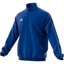 Veste de survêtement de présentation Adidas Core 18 coloris bleu roi
