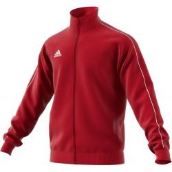 Veste de survêtement club Adidas Core 18 rouge de face