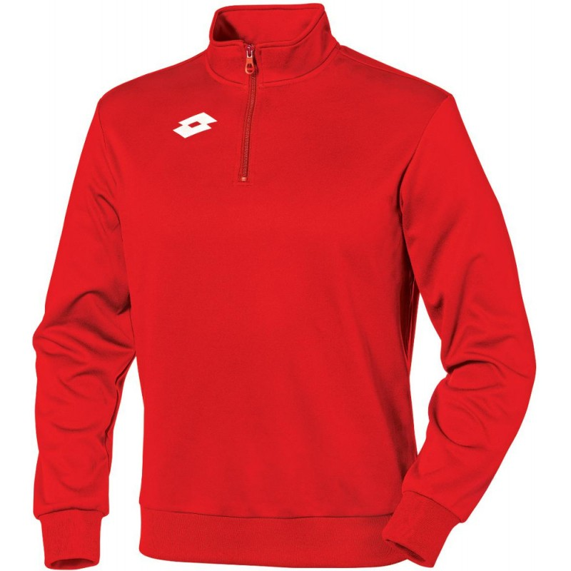 Sweat 1/4 Zip Lotto Delta HZ coloris rouge/blanc