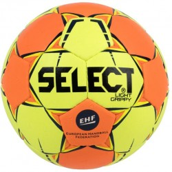 Ballon handball Select Light Grippy coloris jaune/orange