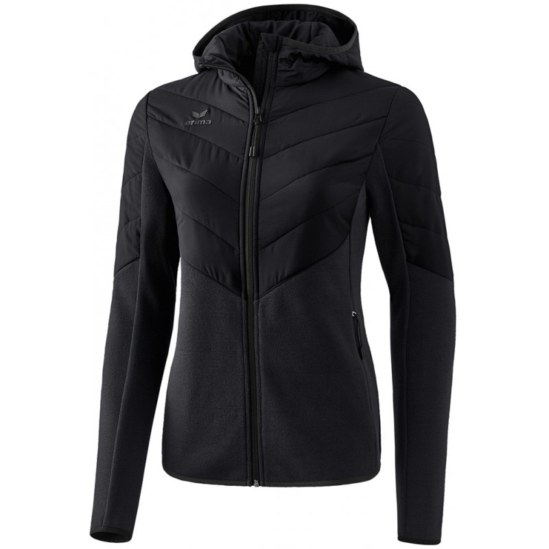 Veste matelassée à capuche Erima Femme, couleur noir