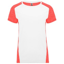 Tee Shirt running Zolder Femme coloris blanc/corail