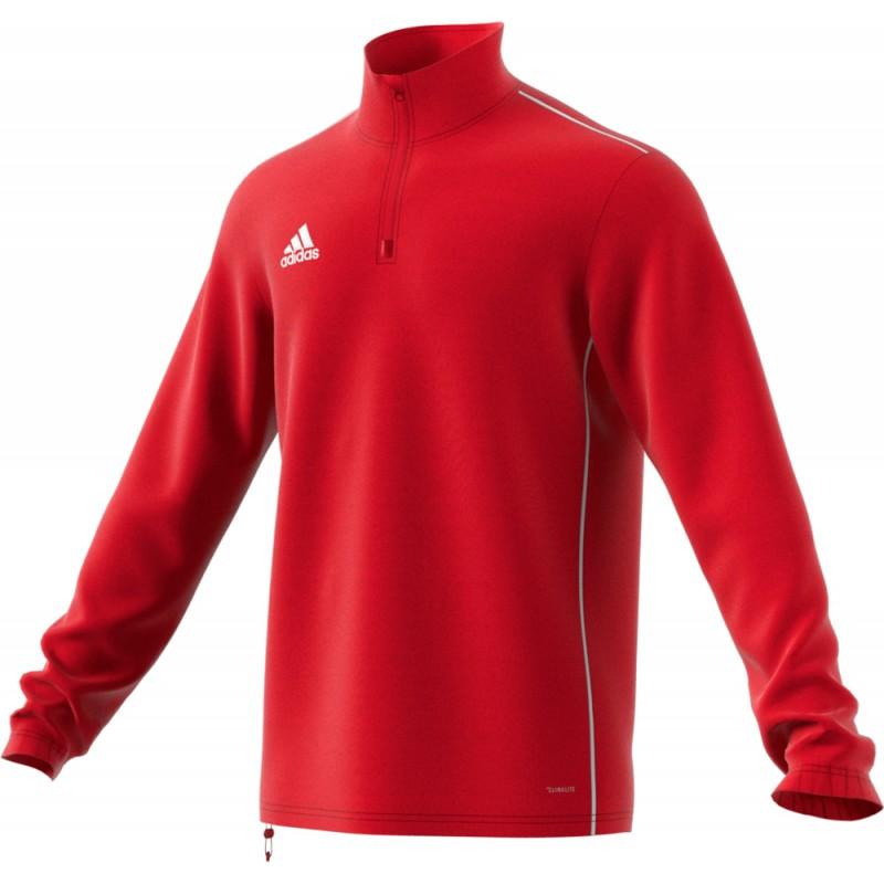 Sweat 1/4 Zip Core 18 Adidas rouge de face