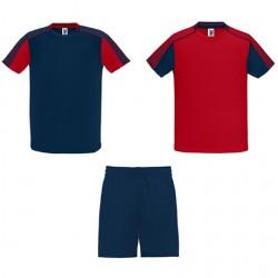 Kit joueur 2 maillots + 1 short Juve Marine Rouge