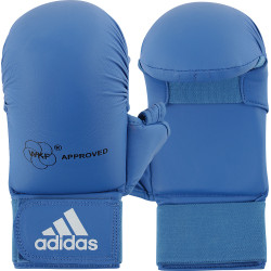 Mitaines de karaté Adidas WKF avec pouce coloris bleu