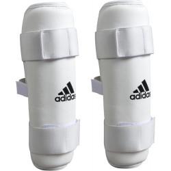 Protège-tibia Adidas à velcro coloris blanc