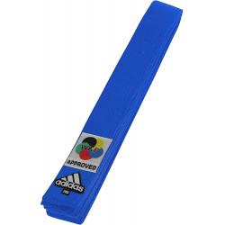 Ceinture karaté Adidas Elite WKF bleue