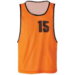 Lot de 5 Chasubles Numérotées de 11 à 15 orange