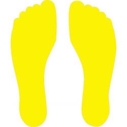 Marquage au sol Pied droit + Pied gauche coloris jaune