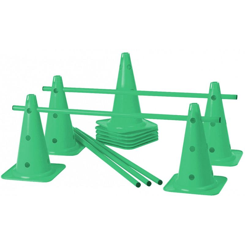 Lot de 5 mini-haies Cônes 40 cm coloris vert