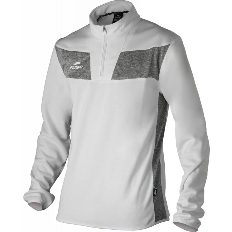 Sweat col zippé ELDERA 10Namik blanc et gris
