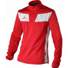 Sweat col zippé ELDERA 10Namik rouge et blanc