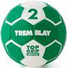 Ballon Top Grip 2ème génération, taille 2, vert et blanc