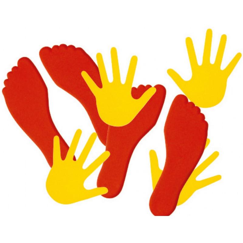 Paire de Mains et de pieds, pour marquage au sol