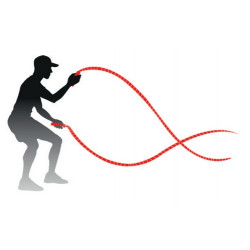 Schéma d'utilisation  des cordes ondulatoires 7.5 kg