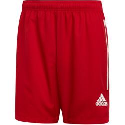 Short de Football ADIDAS Condivo 20, rouge et blanc, de face