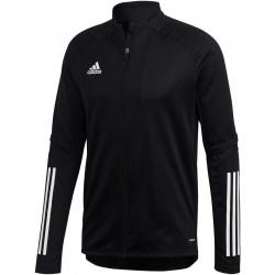 Veste d'entraînement ADIDAS Condivo 20 noir et blanc, de face