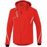 Veste softshell ERIMA Fonction, couleur rouge et blanc, de face