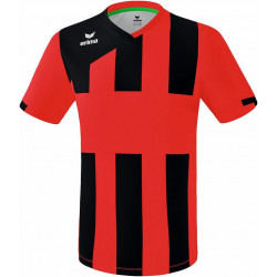 Maillot ERIMA Siena 3.0, couleur rouge et noir, de face