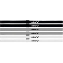 set de 6 serre-tête ERIMA, couleur blanc, gris et noir