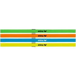 Set de 4 serre-tête ERIMA, couleurs vert, orange, curaçao et jaune fluo