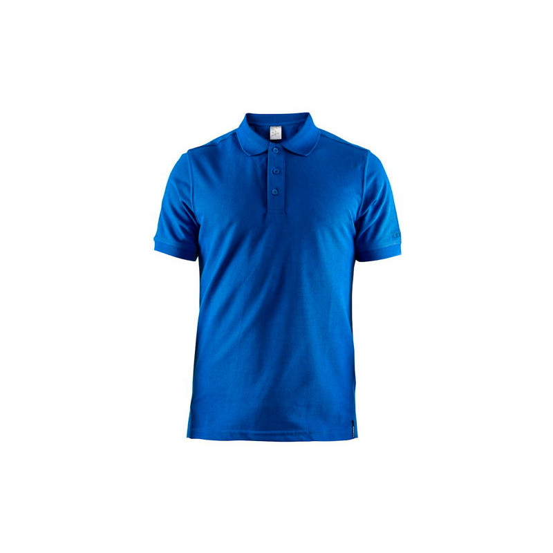 Polo Pique Casual Craft bleu
