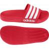 Sandales de douche Adidas Adilette Shower rouge blanc dessous