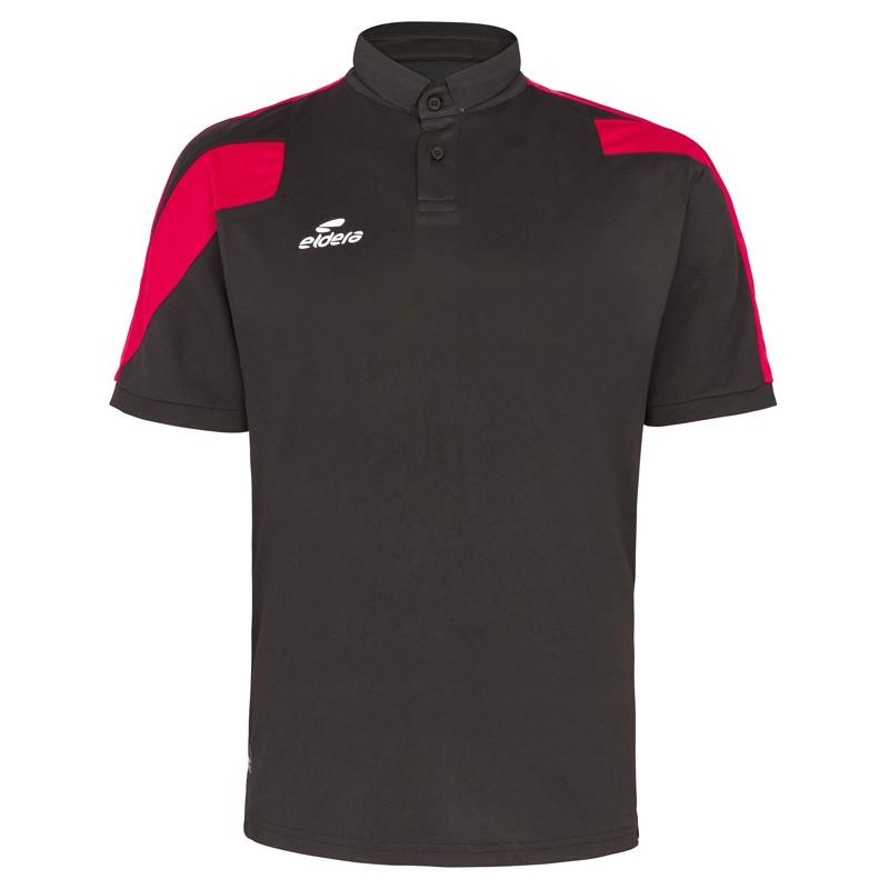 Polo ELDERA Action noir rouge