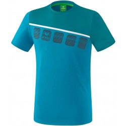 T-Shirt Erima 5-C, couleur bleu oriental et bleu colonial