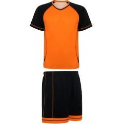 Kit Maillot + Short Premier Orange Noir