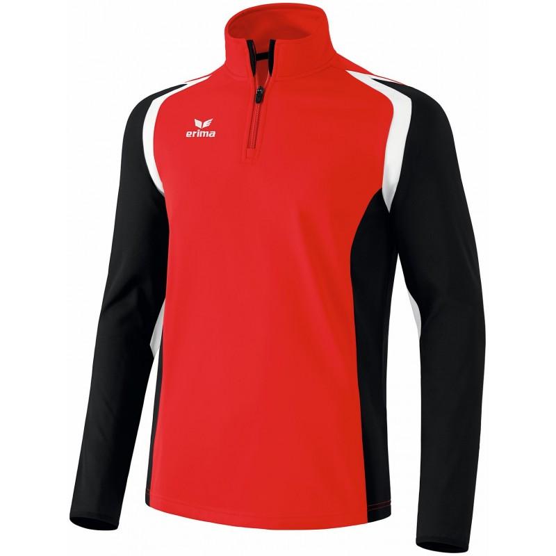 Sweat 1/2 zip Erima Razor 2.0 rouge et noir