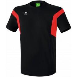 Tee-Shirt Erima Classic Team noir et rouge