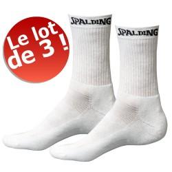 Lot de 3 paires de chaussettes Mid Spalding blanches